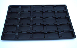 0.5mm Black Antistatic HIPS Tray