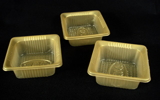 0.4mm Yellow PP Blister Container