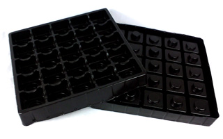 1mm Black Antistatic PS Electronic Tray