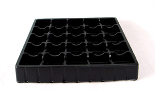 0.9mm Black Antistatic PS Electronic Tray