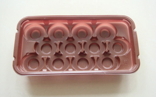 0.4mm Pink Food PP Plastic Tray