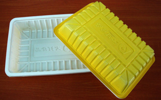 0.6mm Bicolour Food PS Tray